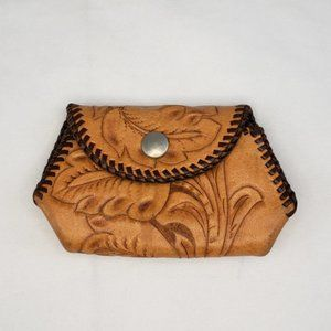 Handbags - Adorable Vintage Tooled Leather Coin Purse